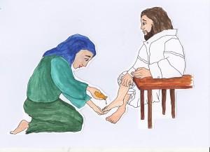 5.Maria salbt Jesu Füße.Joh.12,1-11