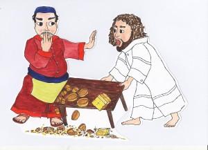 8.Tempelreinigung.Mt.21,12-16