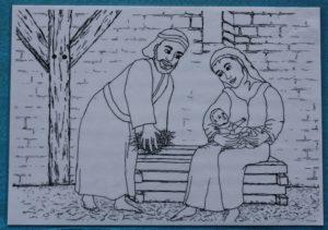 Maria u. Josef mit Kind